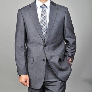 Barry's Menswear Solid Charcoal Suit