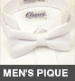 Barry's Menswear Traditional Pique Bowtie