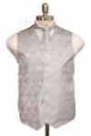 Paisley tone on tone vest, tie and hanky