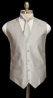 Barry's Menswear Solid Tone Vest With Tie And Hanky