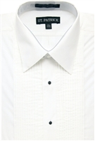 reg collar cotton rich convertable  tuxedo shirt