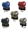 Arielle Hearts Pet Cremation Urns | Slate | Raku | Sky Blue | Night Sky | Ruby |