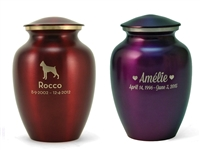Classic Pet Cremation Urn | Crimson Red | Violet