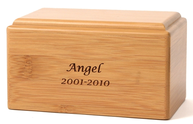 Bamboo Pet Cremation Box | Bamboo