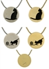 Cat Silhouettes Hinged Pendant | Bronze | Pewter