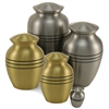 Classic Ebony Stripe Pet Urn | Bronze | Pewter