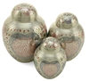 Lotus Heart Pet Cremation Urn | Silver