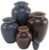 Maus Series Pet Cremation Urn | Granite Blue | Earth Brown