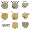 Paw Prints Pet Cremation Pendants | Bronze | Pewter