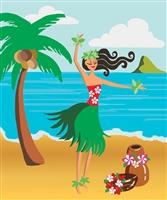 tote bag with hula girl on it