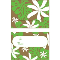 Monstera Nui Green/Gold Foil Gift Card Holder