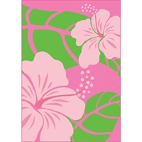 Hibiscus Nui Pink Glitter Note Cards