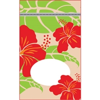 Hibiscus Nui Tan Large Stand Up Zipper Pouch - Bulk