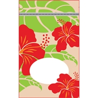 Hibiscus Nui Tan Medium Stand Up Zipper Pouch - Bulk 100-count