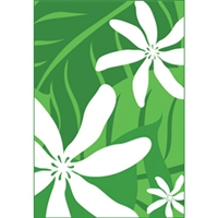 Tiare Nui Green Note Cards