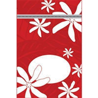 Tiare Nui Red Medium Stand Up Zipper Pouch