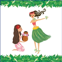 Hula Sisters Onesie - Self Sealing Treat Bags