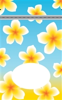 Plumeria Nui Small Stand Up Zipper Pouch - Bulk 100-count