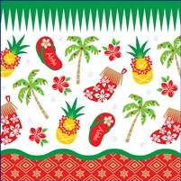Hawaiian Holiday Onesie - Self Sealing Treat Bags - Bulk 100-count