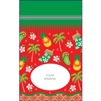 Hawaiian Holiday Medium Stand Up Zipper Pouches - Bulk 100-count