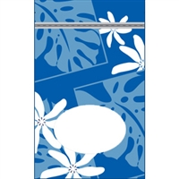 Monstera Nui Blue Large Stand Up Zipper Pouch