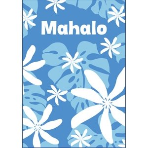 Monstera Nui Blue Mahalo Note Cards