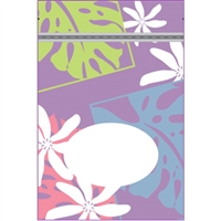 Monstera Nui Lavender Medium Stand Up Zipper Pouch