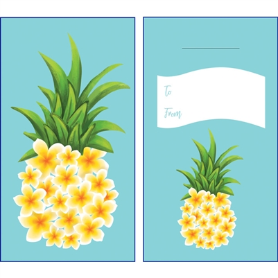 Plumeria Pineapple Lucky Money Envelopes