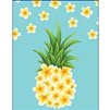 Plumeria Pineapple Tiny Tote