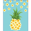 Plumeria Pineapple Large Tote