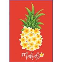 Plumeria Pineapple Mahalo Note Cards