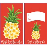 Plumeria Pineapple Mele Kalikimaka Lucky Money Envelopes
