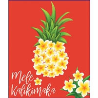 Plumeria Pineapple Mele Kalikimaka Medium Tote