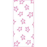 Surfing Honu Pink Treat Bags - Medium