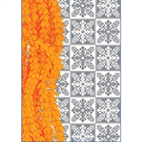 Pakalana Orange/Silver Foil Note Cards