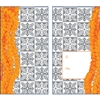 Pakalana Orange/Silver Foil Lucky Money Envelopes