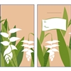 Heliconia White Lucky Money Envelopes