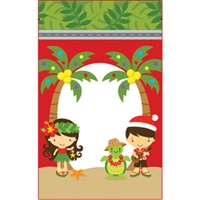 Aloha Cuties Mele Kalikimaka Small Stand Up Zipper Pouches - Bulk 100-count