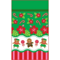 Gingerbread Hula Medium Stand Up Zipper Pouch