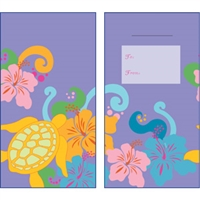 Honu Hibiscus Lavender Glitter Lucky Money Envelopes