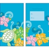 Honu Hibiscus Blue Glitter Lucky Money Envelopes