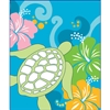 Honu Hibisicus Blue Medium Tote