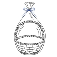 "Clear Basket Bags 14"" X 24"" - 3ct"