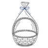 "Clear Basket Bags 14"" X 24"" - 100ct"
