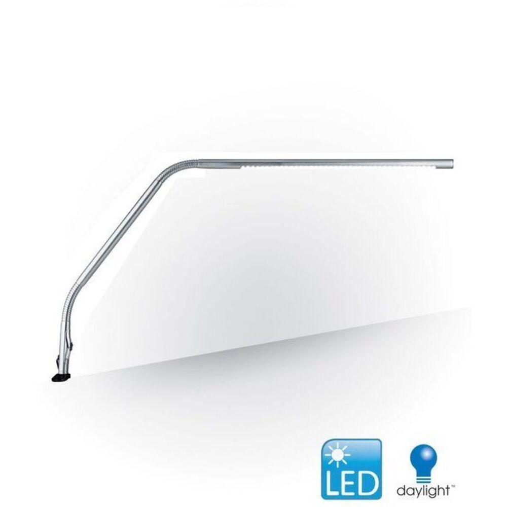 Led slimline table lamp chrome by the daylight company u35107