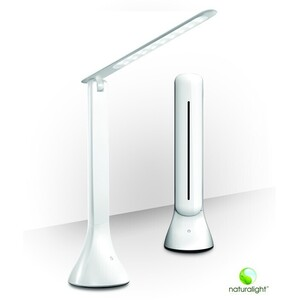 "True Color Matching Smart Lamp - R10 Rechargeable LED Portable Lamp - White 9.8"" Tall (UN1310)"