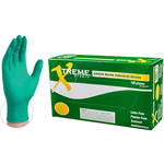 Xtreme Green Nitrile Industrial Latex-Free PF Disposable Gloves | 4 mil Thick | Sizes S-XL | 100 GlovesBox; 10 BoxesCase = Case of 1000 (XNGPF)