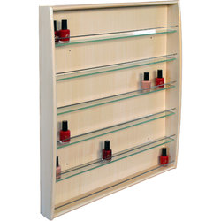 Jia Wall Mounted Wood Nail Polish Rack - Choice of Colors (WALL POLISH RACK)