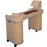 Shen Manicure Table - Wood Top with Wood Base (HZ-B)
