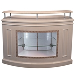 Jing Reception Counter - Marble Top with Wood Base (HZ-CHICAGO)